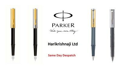 Parker Beta Premium Fountain Pen - Silver Cap Ct Gt & Gold Cap Ct Gt