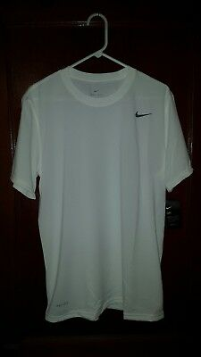 Nike Legend Short Sleeve Dri Fit Tee White  Size Small New with Tags