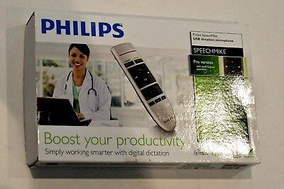 NEW  PHILIPS SPEACHMIKE PRO LFH3200/00 with Utility CD Dictation Microphone