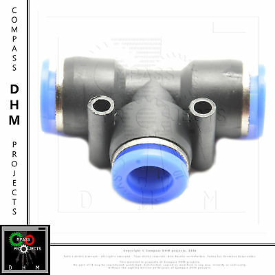 T-connector PE 10 pneumatic fitting air push