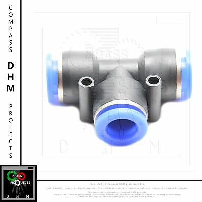 T-connector PE 12 pneumatic fitting air push