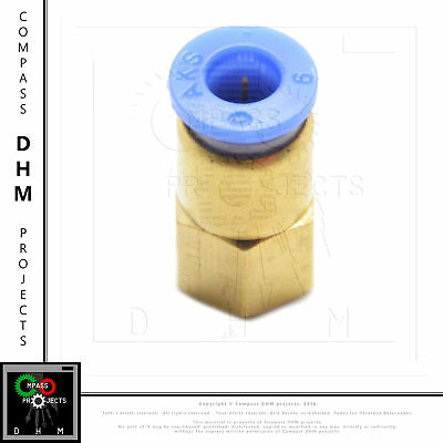 Straight push-in fitting PCF6 M5 pneumatic fitting air push