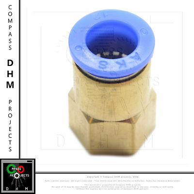 Straight push-in fitting PCF12 03 pneumatic fitting air push