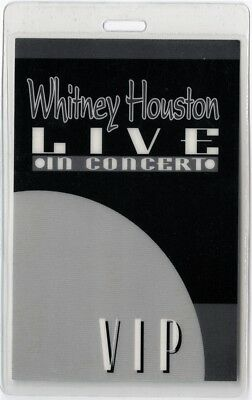 Whitney Houston authentic 1996 concert tour Laminated Backstage Pass VIP