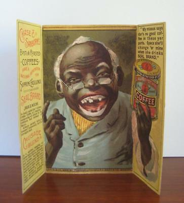 Scarce Chase & Sanborn 1888 Black Americana Advertising: Fold Out Trade Card