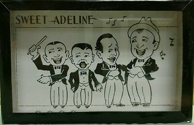 Vintage Sweet Adeline Barber Shop Singers Novelty Travel Pocket Glass Game RARE