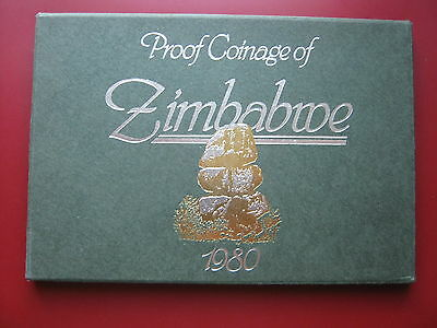 Zimbabwe 1980 6 coin collection set Proof Royal Mint from 1 Cent to $1 Dollar