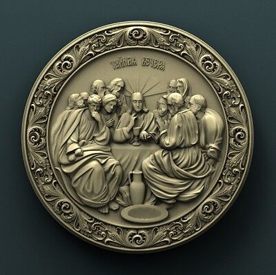 3d STL Model Relief for CNC Router Aspire Artcam _ The last supper