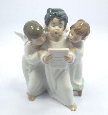 Lladro Figurine #4542 Angels' Group, Group of 3 Singing Angels, Mint in Box