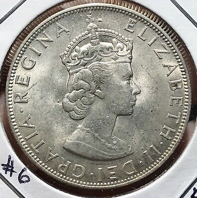 1964 Bermuda Silver Crown. Beautiful Collector Coin For Your Collection 6