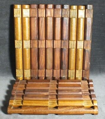 "VTG Lot 16 Lincoln Logs 3 Notch 7 1/2"" Replacement Logs Various Brown MS16"