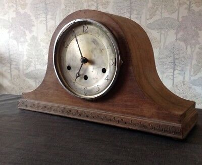 Antique Oak Clock Case Nelson Hat Style