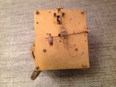 Antique Clock Movement Mauthe Chiming 10x10cm Plates Untested For Spare Parts