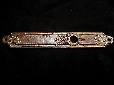 Italian Ornate Bronze / Brass Art Nouveau Door Plate Made In Italy