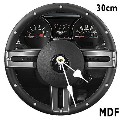 FORD MUSTANG Steering Wheel  Wall Clock Large 30CM MDF CAN BE PERSONALISED