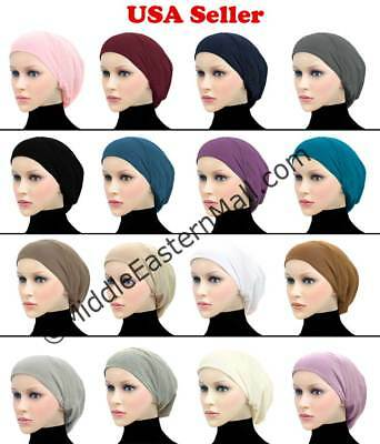 Cotton Snood Hijab Soft Stretchable Inner Hijab Caps Hair loss Cancer chemo Hat
