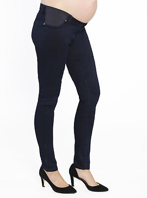 Angel Maternity Stretch Slim Jeans in Navy M L XL pants bottoms pregnancy baby