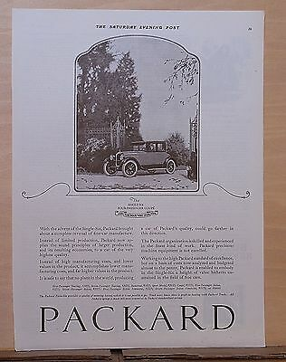 1922 magazine ad for Packard - Single Six Four-Passenger Coupe, height of value