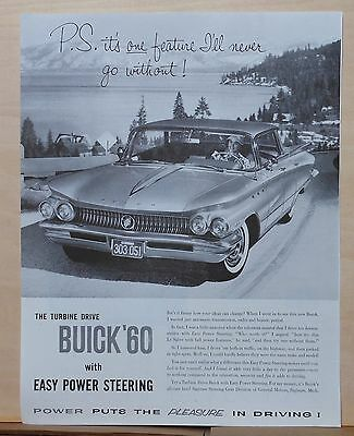 1960 magazine ad for Buick - Turbine Drive with Easy Power Steering, photo