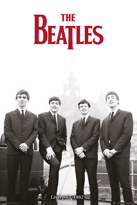(LAMINATED) The Beatles POSTER (61x91cm) Liverpool 1962 Print New Licensed Art