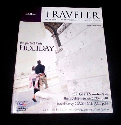 L.l. Bean Traveler Holiday 2000 Catalog - 70 Pages -  Free Us Shipping