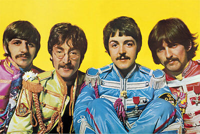 (LAMINATED) The Beatles POSTER (61x91cm) Lonely Hearts Club Print New Licensed