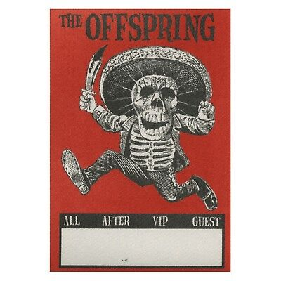 The Offspring authentic concert tour satin Backstage Pass VIP red
