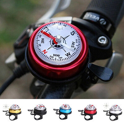 Bike Bicycle Invisible Bell Aluminum Loud Sound Compass Handlebar Safety Horn HC