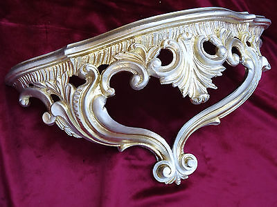 Wall Console Shelf Gold Silver Baroque Reproduction 15x7 7/8x6 1/8in 811