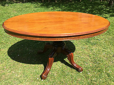 Antique Victorian Solid Mahogany Tilt Top Breakfast Occasional Table