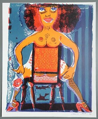 Karl-Heinz Hansen-Bahia Siluana Serigraphie 41x49cm Sex for Everyone 1973 Signed