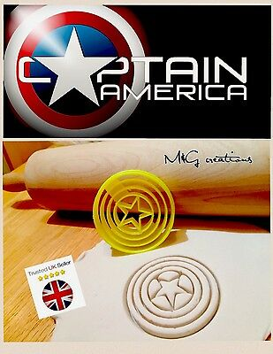 Captain America Marvel Uk SELLER Biscuit Cookie Cutter Fondant Cake Decorating