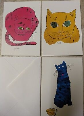 Andy Warhol Cats Name Sam 1990 Andy Warhol Foundation 3 Note Cards & Envolopes