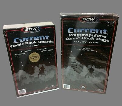 200 Current Resealable Comic Bags and Boards  BCW Archival Book Storage