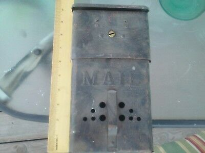 Antique Wall Mount Letter Locking Mail Box