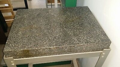 "GRANITE INSPECTION TABLE ON STAND WITHOUT CASTERS 36"" x 48"" x 6 3/8"" VERY NICE"
