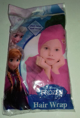 HAIR WRAP Disney FROZEN PINK with ANNA IMAGE AT FRONT JUST TWIST& WRAP SHOWER
