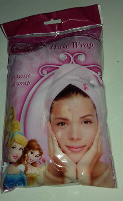 HAIR WRAP PINK Disney PRINCESS with IMAGE AT FRONT JUST TWIST& WRAP SHOWER