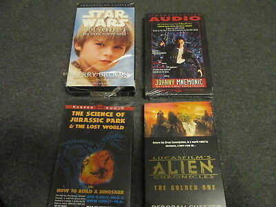 Lot 4 Audiobook Cassettes Science Fiction, Star Wars, Alien Chronicle, Free Ship