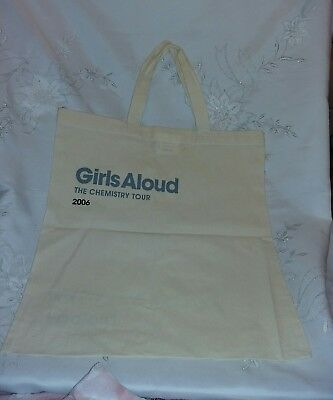 Girls Aloud Chemistry Tour 2006 You Can't Mistake My Biology Tote Bag New Rare