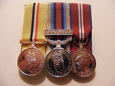 Iraq, OSM Afghanistan, Queens Diamond Jubilee Miniature Medals Mounted Telic