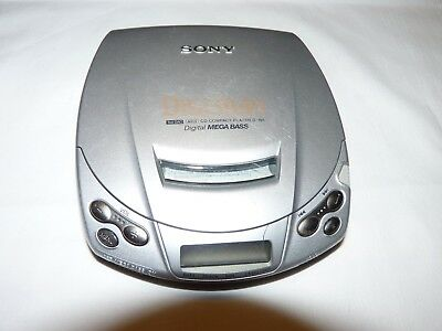 Sony Discman D-191 Portable CD Player with Digital Mega Bass-Working Condition