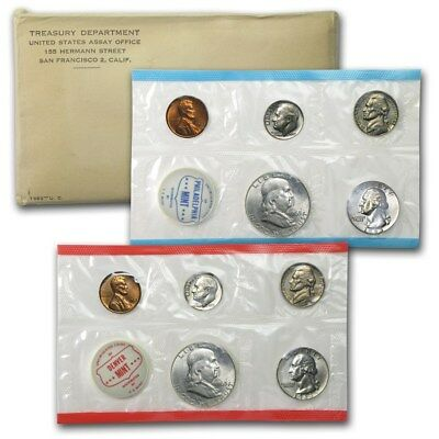 1963 P&D US MINT SET Sealed In Original Cello With Envelope- 90% Silver 10 Coins