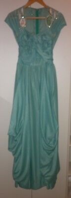 VINTAGE 1940s DEBUTANTE  DRESS SIZE SMALL GOOD CONDITION