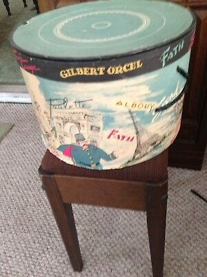 Vintage Gilbert Orcel Iffel Tower Hat Box