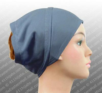 Cotton Stretch Headband Hijab under-scarf  Shayla cap doesn't slide head  wraps