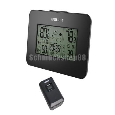 digitale Wetterstation LCD-Display Temperatur Thermometer + drahtlose Sonde