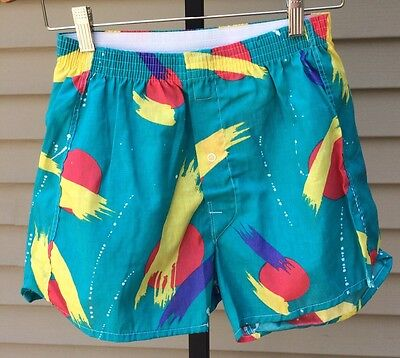 Vintage Hanes 80s It's a Boxer shorts underwear Colorful Small 30-32 NEW