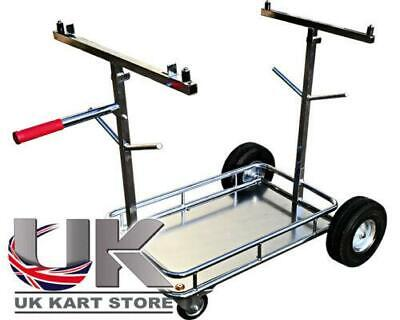 OTK Tony Kart Style 4 Wheel Go-Kart Trolley with Shelf UK KART STORE