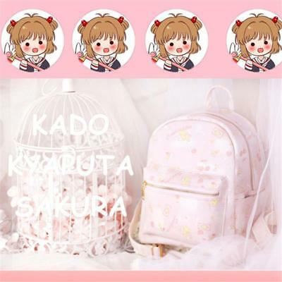 Anime Card Captor Sakura The Clow Kero Backpack Girls Shoulder Bag Pink Cute New